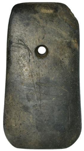 """3 15/16"""" Polished Hardstone Pendant.  New York.  Highly"""