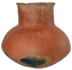 "6 1/4"" Gila Jar.  Southwestern US.  Solid, original red"