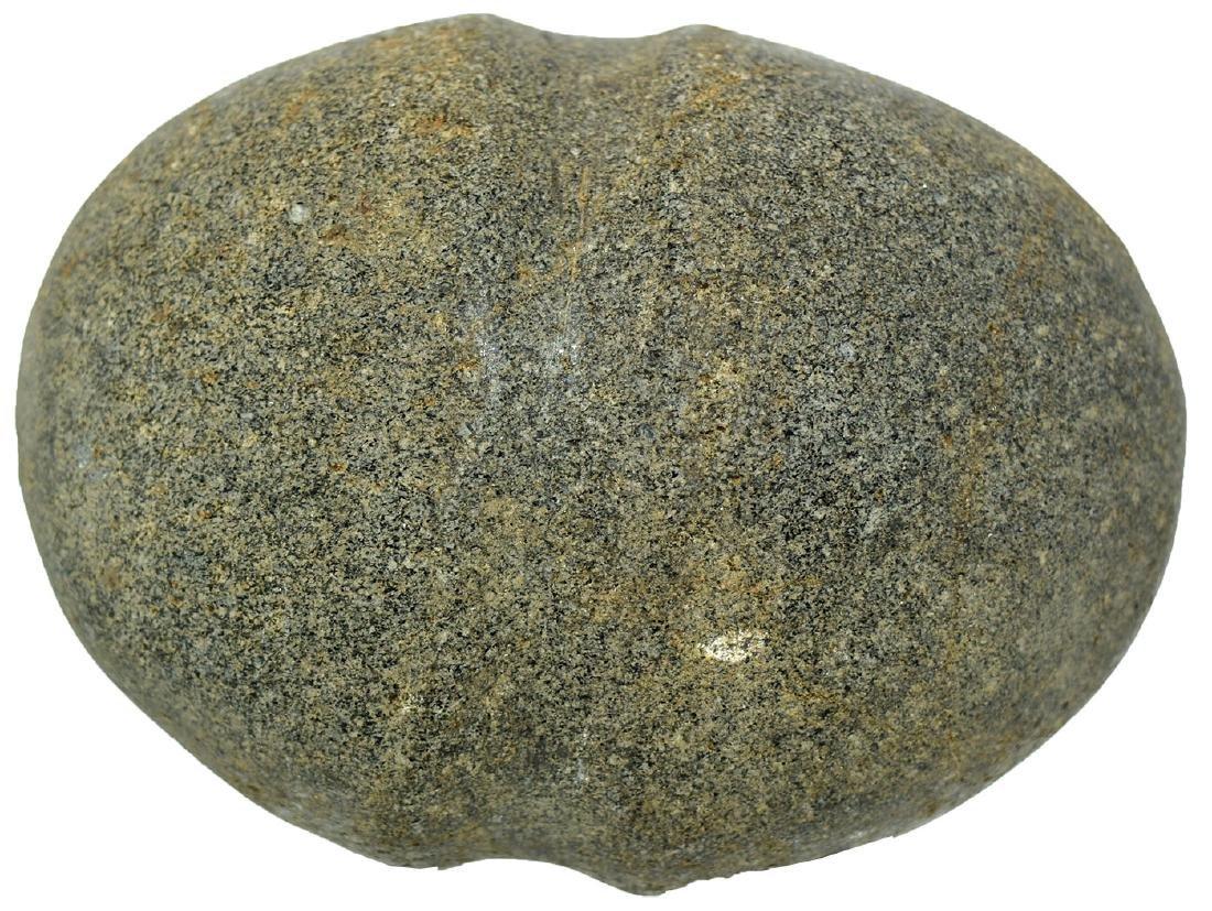 "3 7/8"" Stone Grooved Club Head. South Dakota.  Ex-Guy"