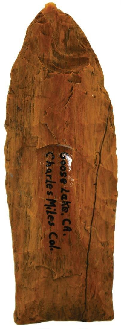"""2 13/16"""" Petrified Wood Clovis.  Rogers COA.  Northern - 2"""