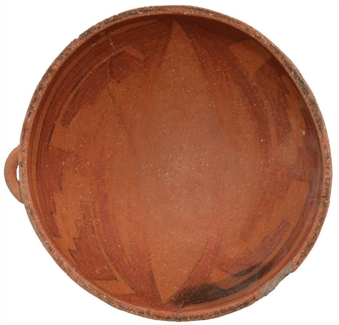 """7 5/16"""" D. Anasazi (Tusyan) Polychrome Bowl with lug. - 2"""