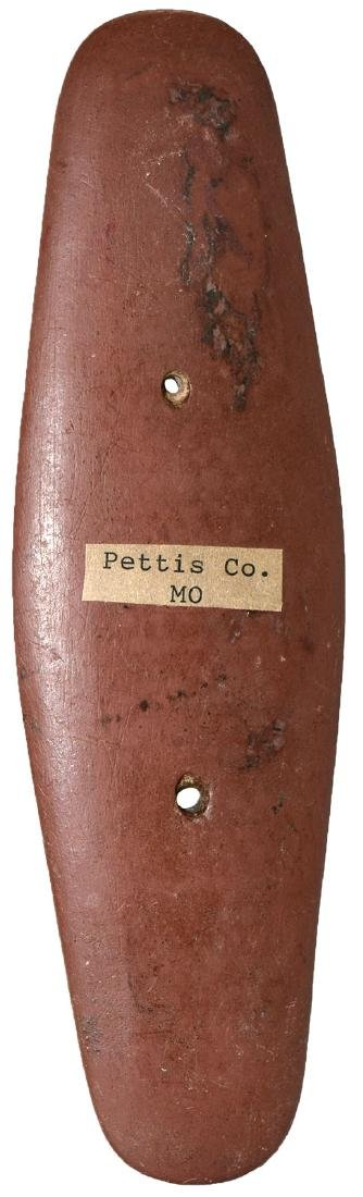 "7"" Gorget.  Pettis Co, MO.  Red Bauxite.  Jackson G9+ - 2"