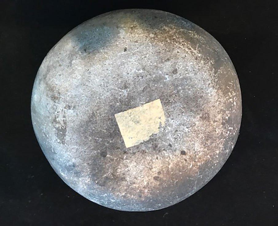 "5"" D. Stone Bowl. NM.   Rare prehistoric artifact type - 3"