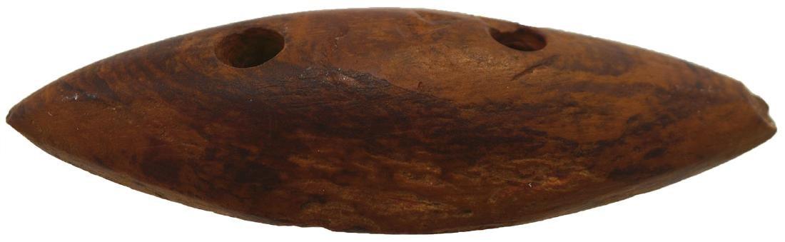 """3 1/2"""" Elliptical Claystone Gorget.  Obion Co, TN.  A"""
