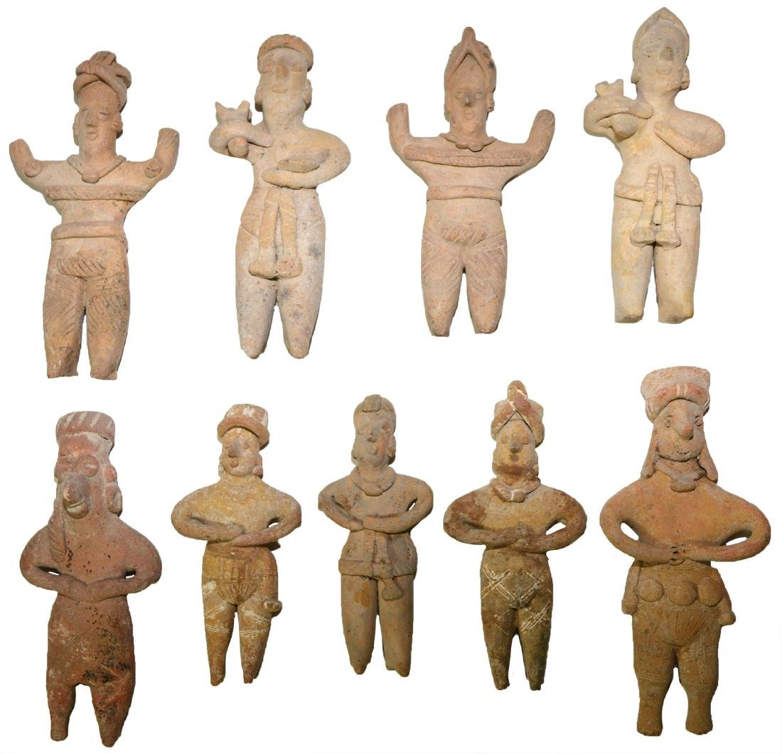 "Group of 9 Ceramic Figures (4 1/2""-4 3/4"")."