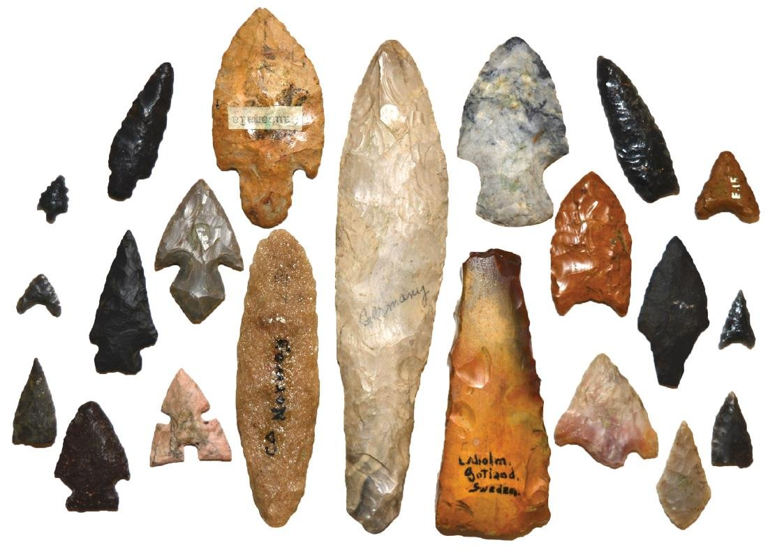 "Group of 21 Artifacts from around the world (5/8""-6"