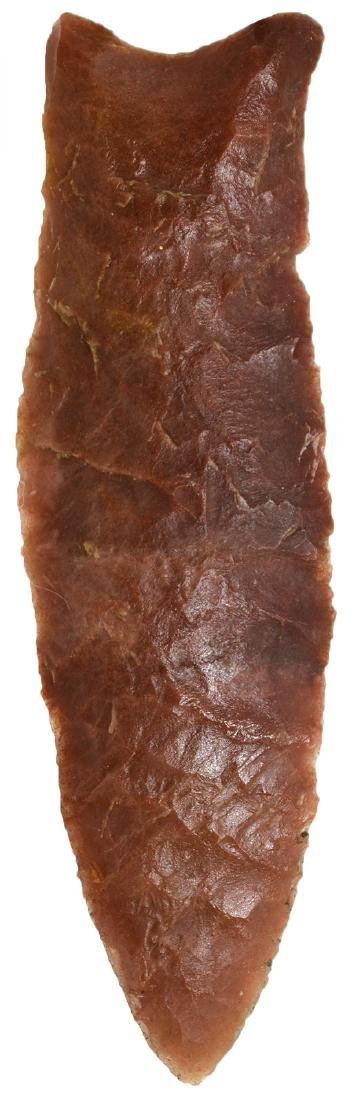 "4"" Dalton.  AR.  Large, red Novaculite.  Caddo G9 and"