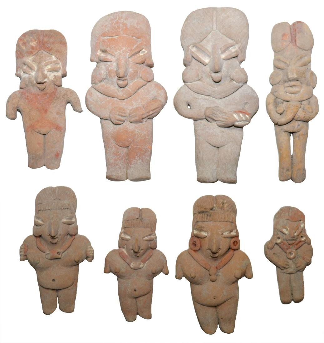 "Eight Ceramic Figurines (2""-3 3/4"").  Western MX."