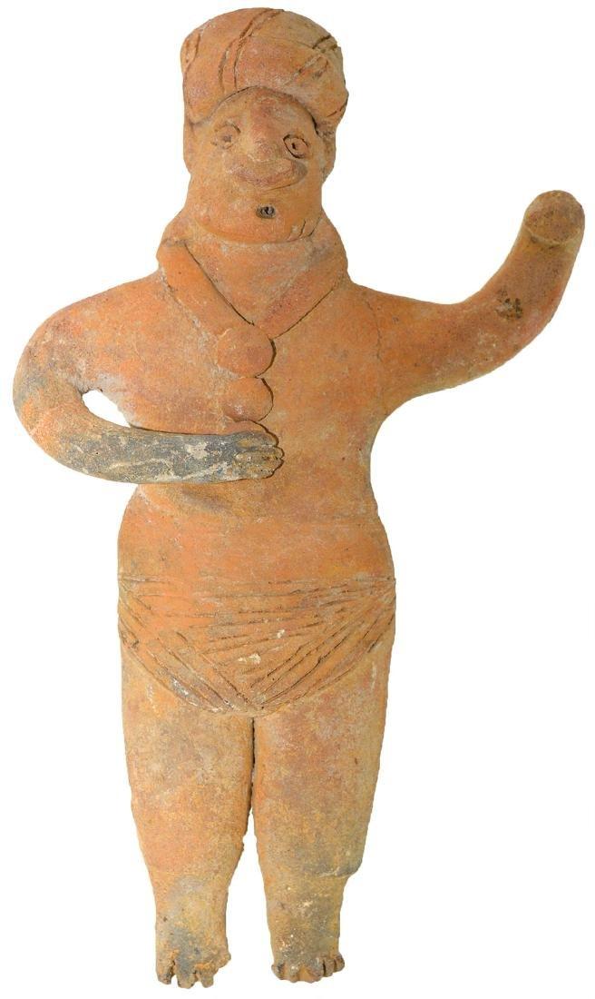 "8 7/8"" Ceramic Figurine.  Western MX.  ~2000 years old."