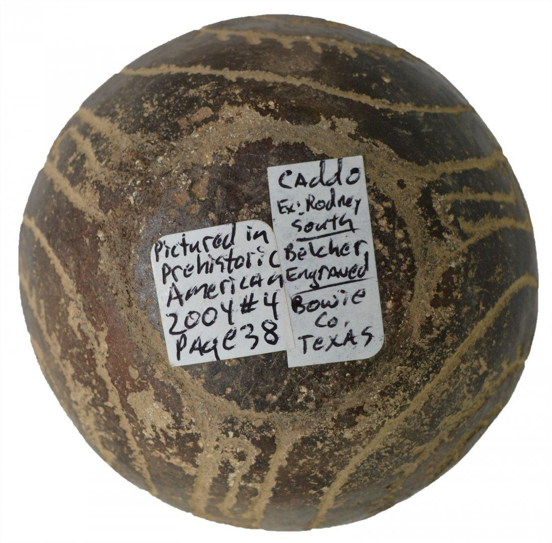 "5"" H. Caddo Engraved Belcher Bottle.   Pictured in - 3"
