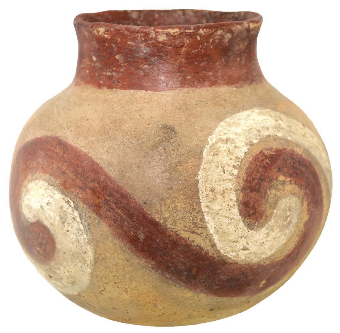 """5 3/16"""" H. Quapaw Swirl Jar.  Poinsett Co, AR.  Solid,"""