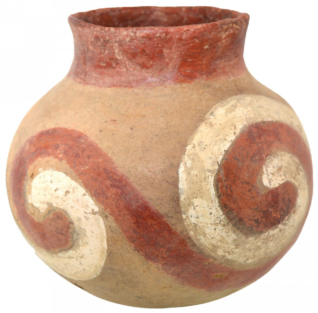 "5 3/16"" H. Quapaw Swirl Jar.  Poinsett Co, AR.  Solid, - 5"