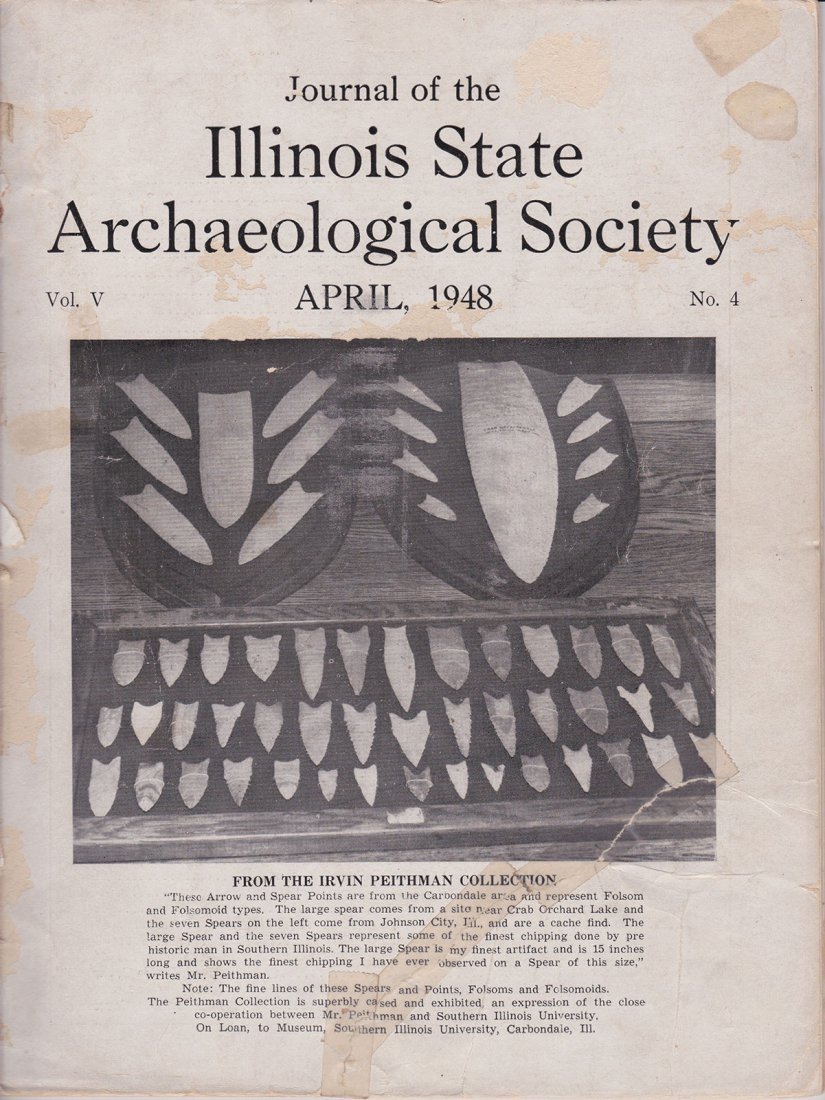 """6 1/2"""" Cupped Discoidal.  Pictured in 1948 Illinois - 5"""