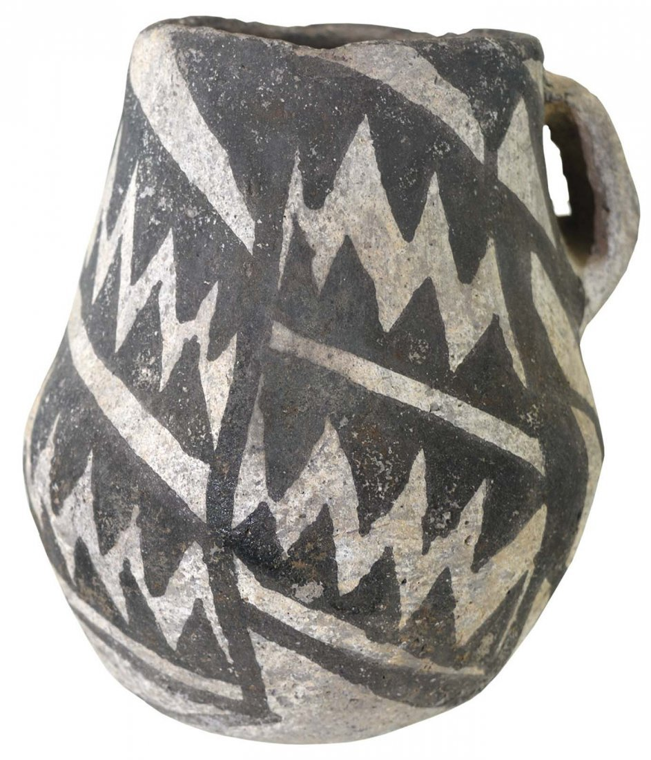 "4 1/2"" H. Anasazi Chaco Mug.  Black and White Negative."