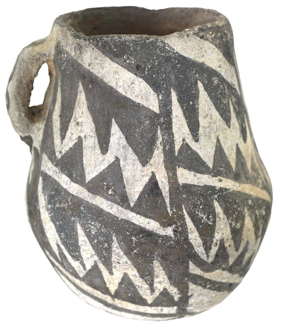"4 1/2"" H. Anasazi Chaco Mug.  Black and White Negative. - 2"