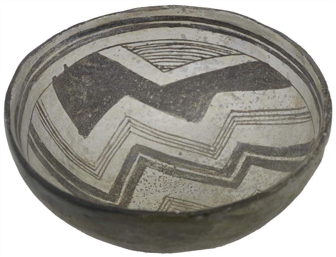 "6"" D. Mimbres Mogollan Bowl.  NM. Geometric designs."