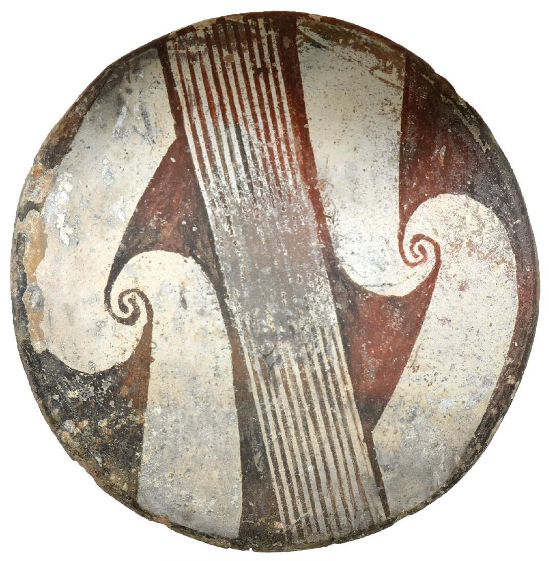 "5 1/4"" Mimbres Plate.   Pictured in Ornamental Indian"