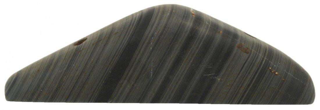 "4"" Slate Boatstone.  Randolph Co, IN.  Ex-Bill Cain - 4"