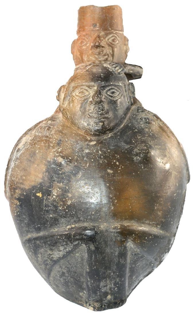 """11 1/2"""" H. Peruvian Effigy Bottle.  Peru.   Ex-Kevin - 2"""