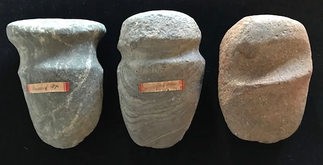 """Three Nice Shelby Co, IN Axes.  4 1/4""""-4 3/4"""".   Found"""
