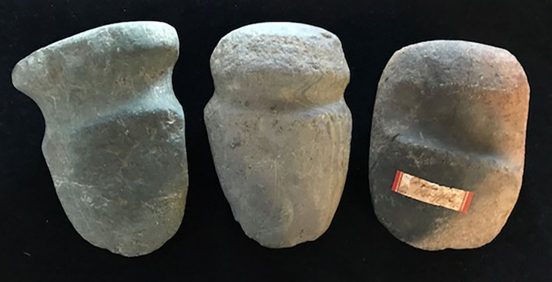 """Three Nice Shelby Co, IN Axes.  4 1/4""""-4 3/4"""".   Found - 2"""