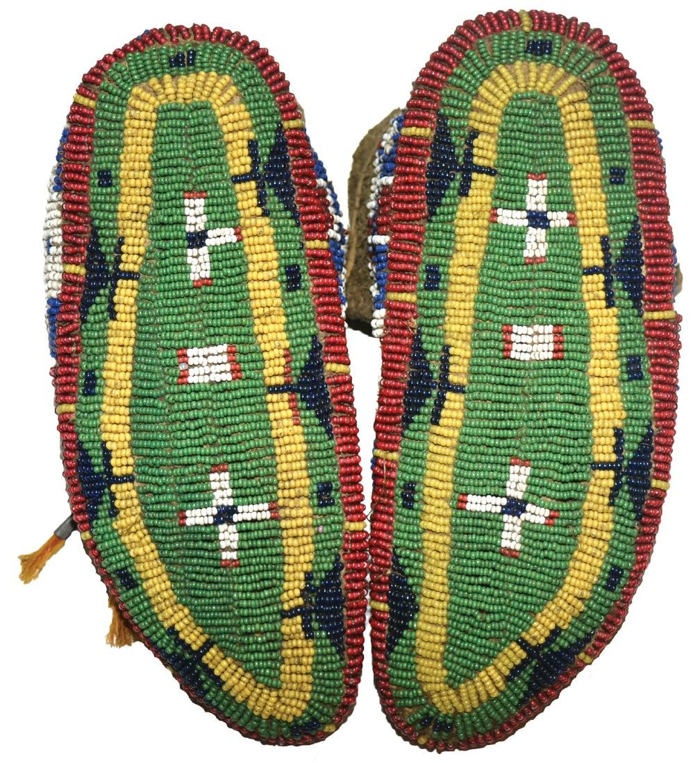 "7 3/8""  Women's Moccasins. Fully beaded.  Earl Townsend - 2"