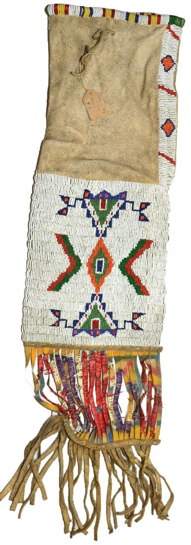 Native American Beaded Pipe Bag.  Earl Townsend