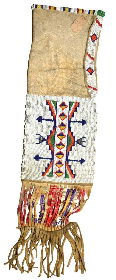 Native American Beaded Pipe Bag.  Earl Townsend - 2