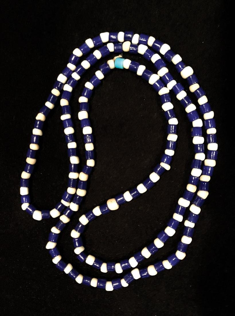 """36"""" Strand of old Glass Trade Beads.  Central"""