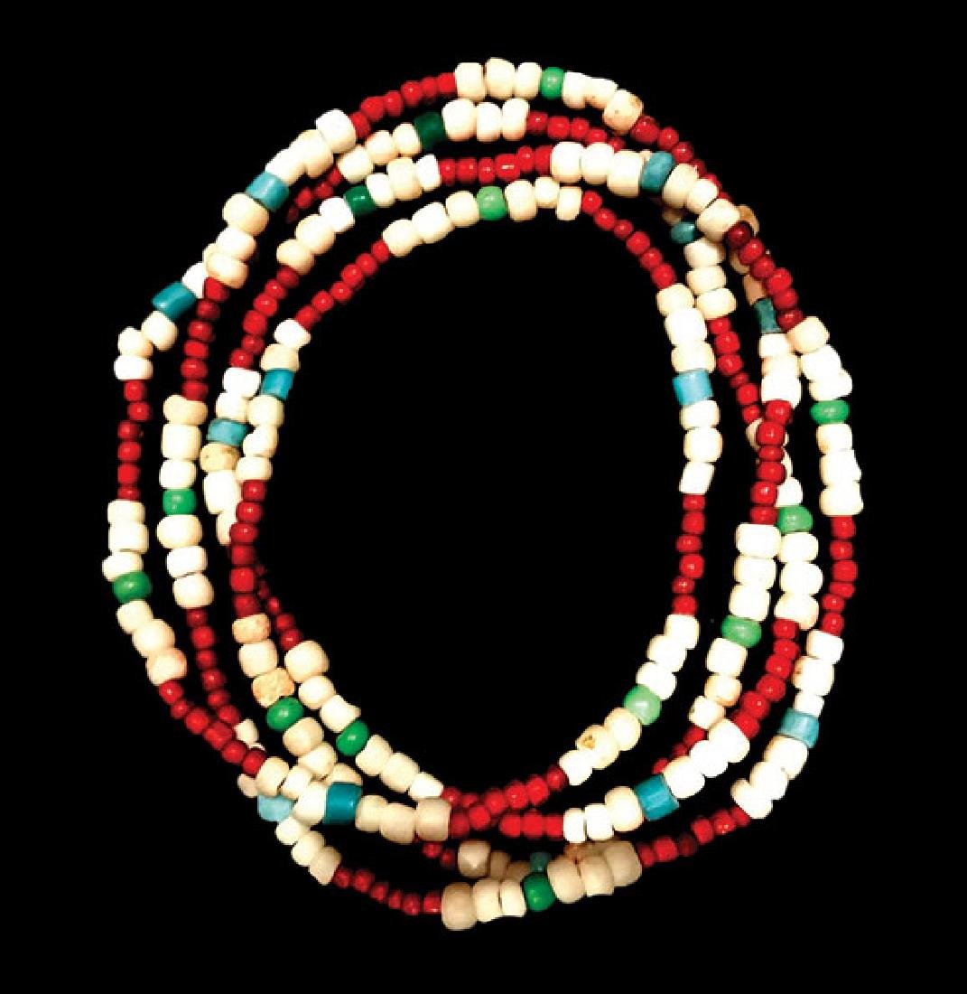 """32"""" Strand of old Glass Trade Beads.   Late 1800's to"""