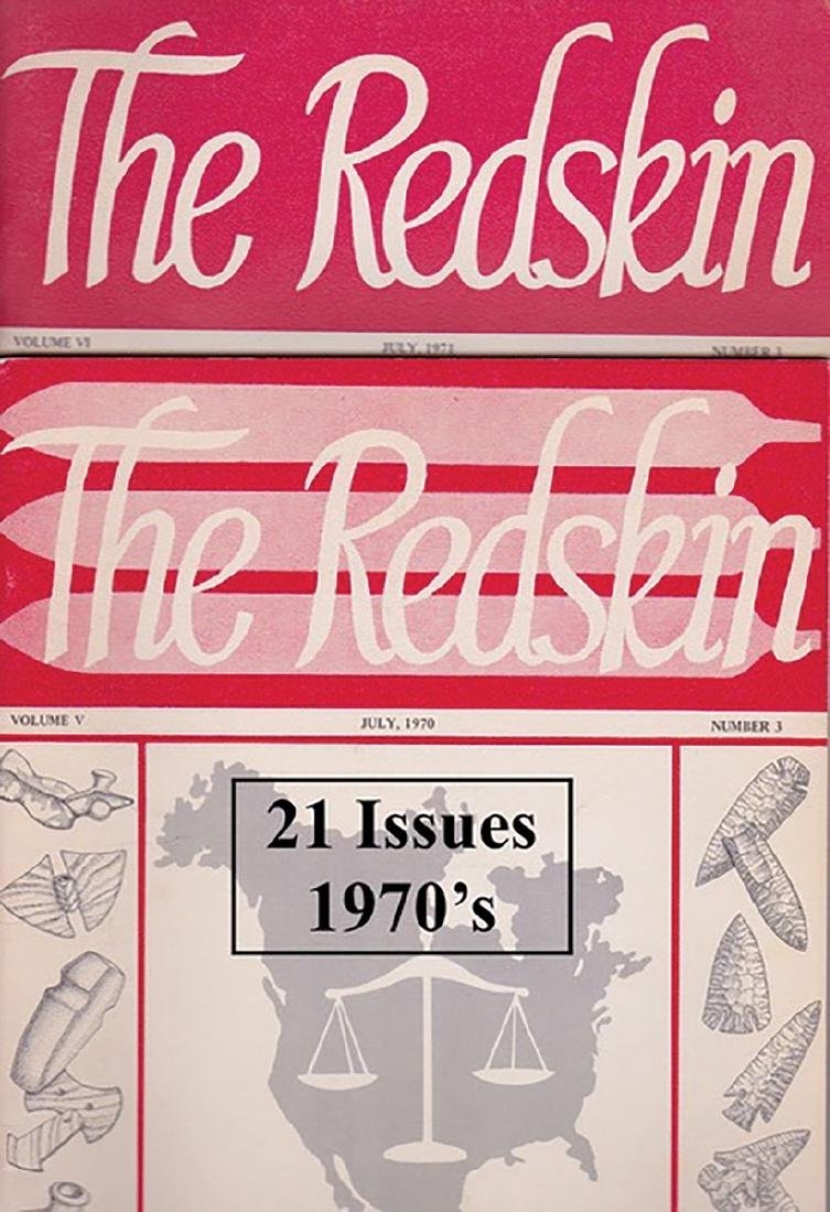21 Issues of 1970's Redskin Journals.  No duplicates,
