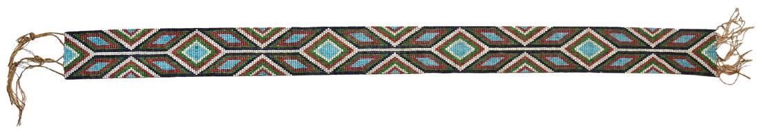 "25"" (belt only) Wampum Belt. 1850-1875.  Earl Townsend"