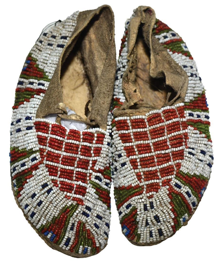 "6 1/4"" Native American Women's Moccasins. Earl Townsend"