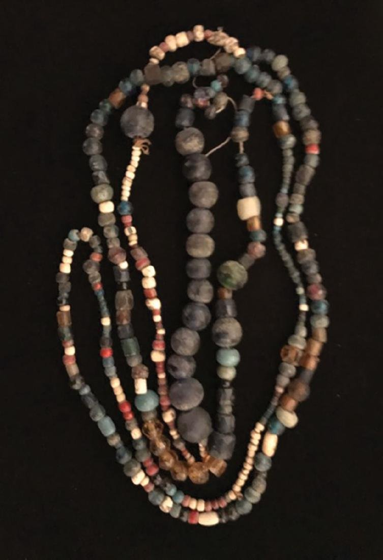 """50"""" Strand of very old Trade Beads. Russian Cobalt"""