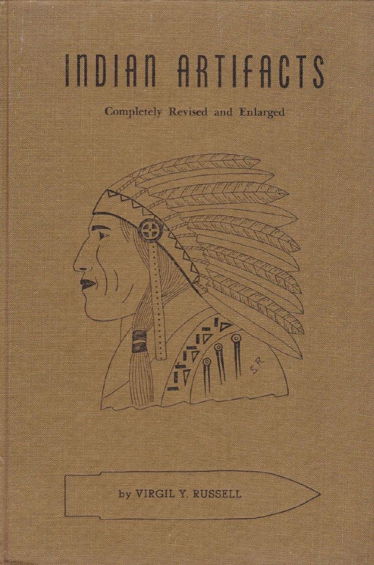 2 Hard to find Books:  Indian Artifacts (Russell) and