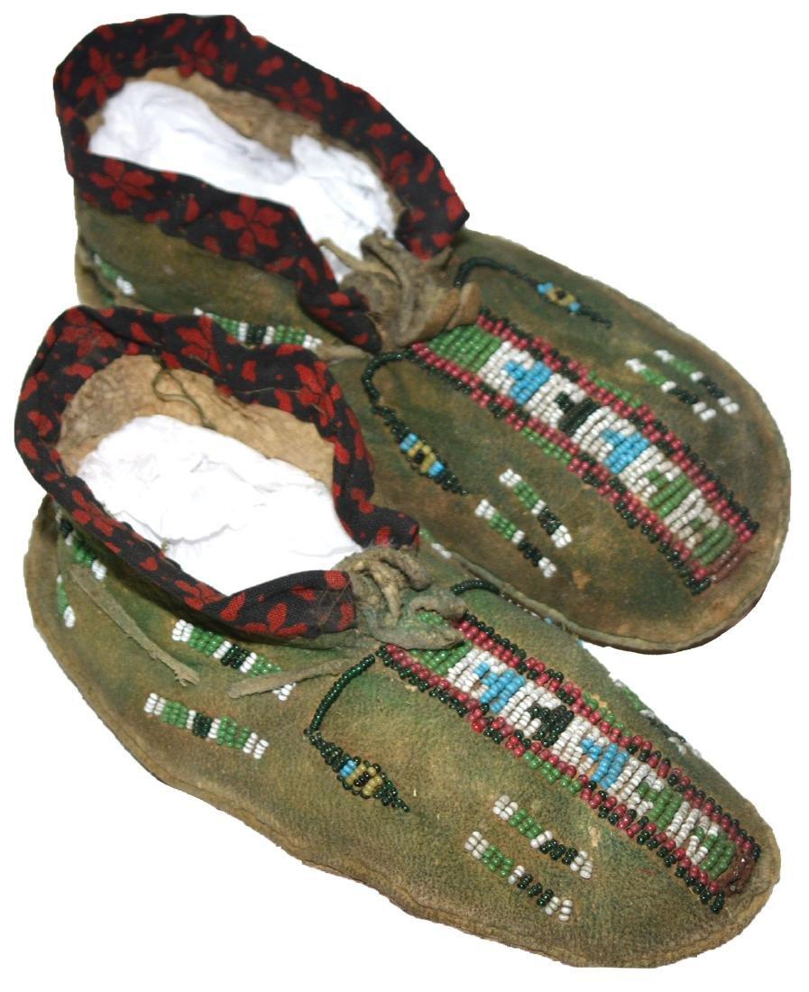"6 1/4"" Cheyenne Women's Moccasins.  Earl Townsend"