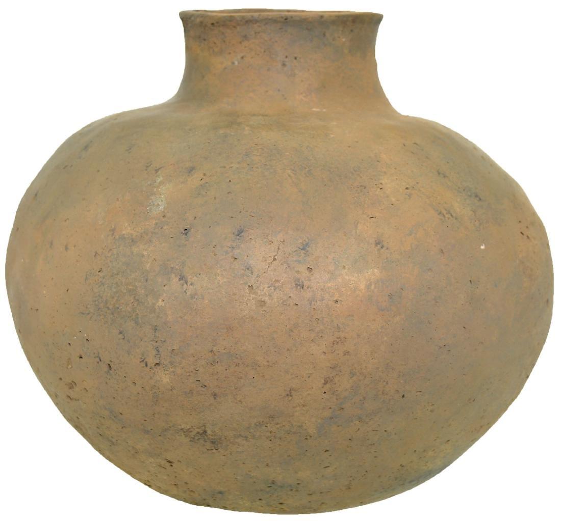 "9 3/4""H.  Mississippian Jar.  MO.  Restored.  Large,"