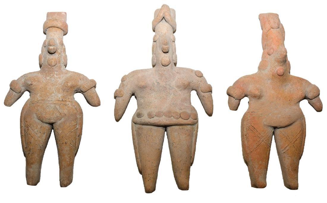 """3 Ceramic Figurines.  6 1/4""""-6 5/8"""".   MX.  Jalisco."""