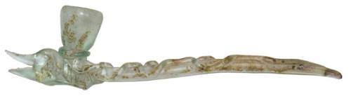 """19 1/4"""" Glass Pipe. Athens, FL, early ship wreck."""