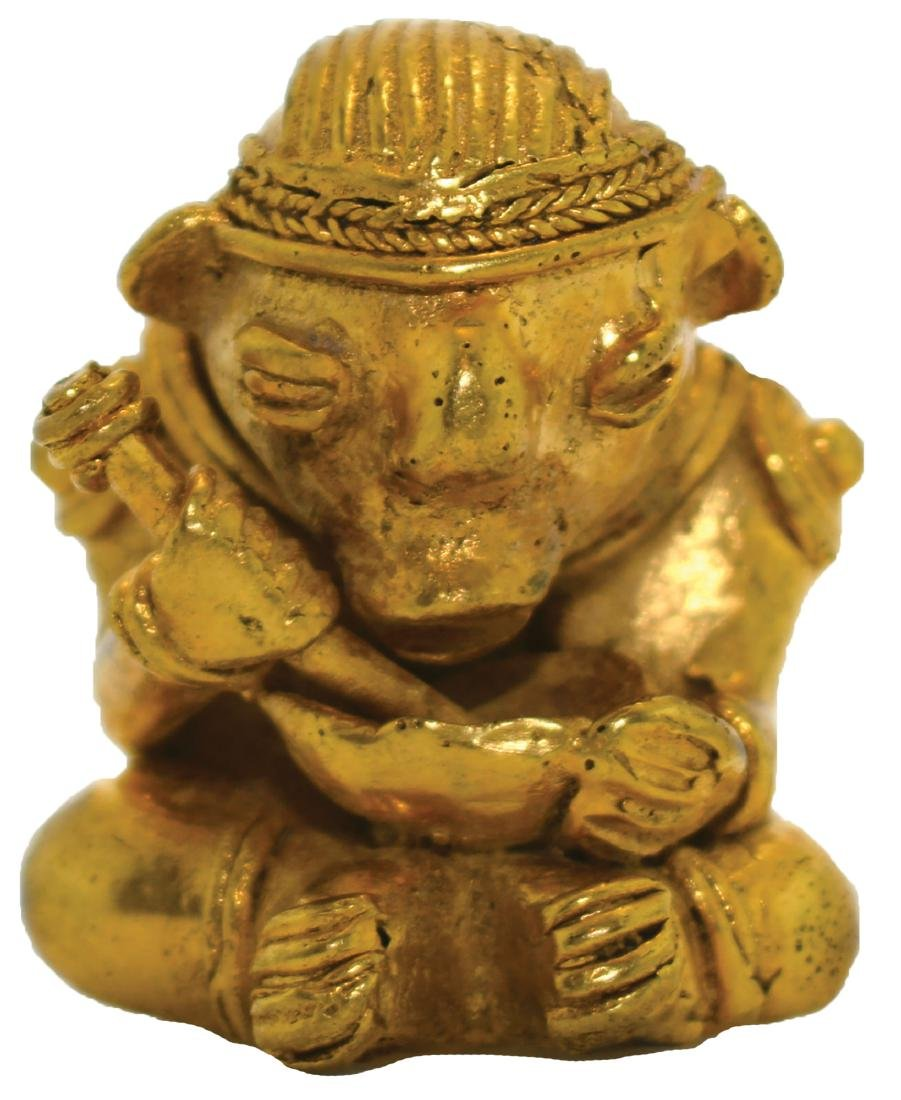 """1 1/2"""" Tairona Effigy Pendant.  Gold content unknown"""