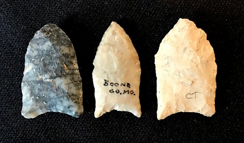 Three Paleo-type points from the Earl Townsend