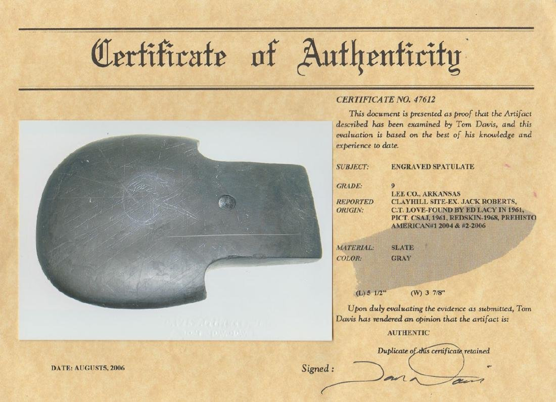 """5 1/2"""" Engraved Spatulate.  Pictured in 1961 CSAJ, - 6"""
