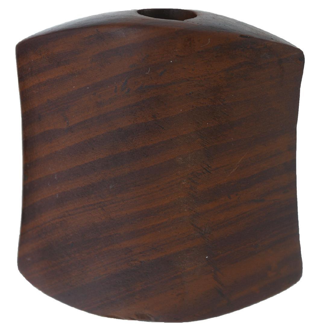 "2 5/8"" Hourglass Bannerstone.  TN.  Sriped Claystone. - 5"