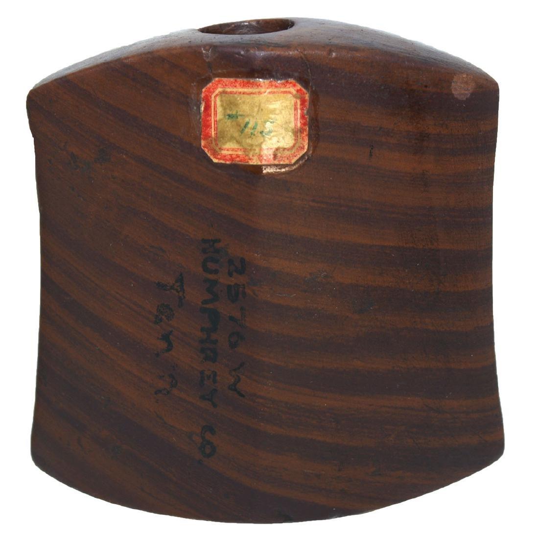 "2 5/8"" Hourglass Bannerstone.  TN.  Sriped Claystone. - 6"
