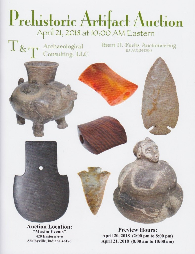 "2 5/8"" Hourglass Bannerstone.  TN.  Sriped Claystone. - 9"