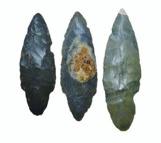 "Three fine Hornstone Adenas (3 3/4""-5 1/4"").  IN.  Well"