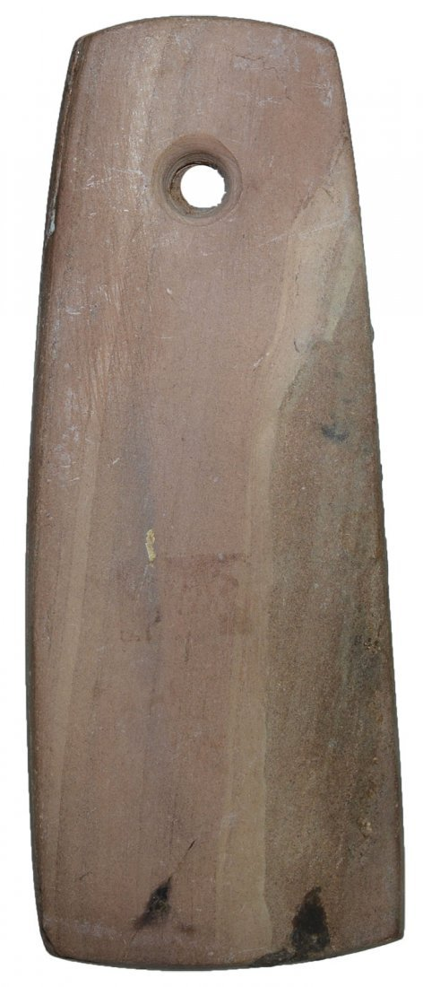 "3 5/8"" Slate Pendant.  Weathered brown slate.  Well"