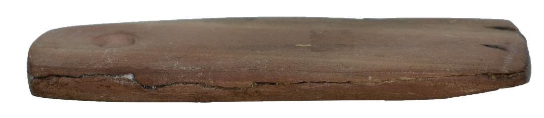 "3 5/8"" Slate Pendant.  Weathered brown slate.  Well - 4"