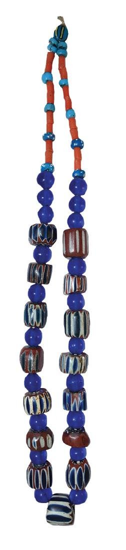 """28"""" Necklace with 15 large multi-layered Chevron Beads."""