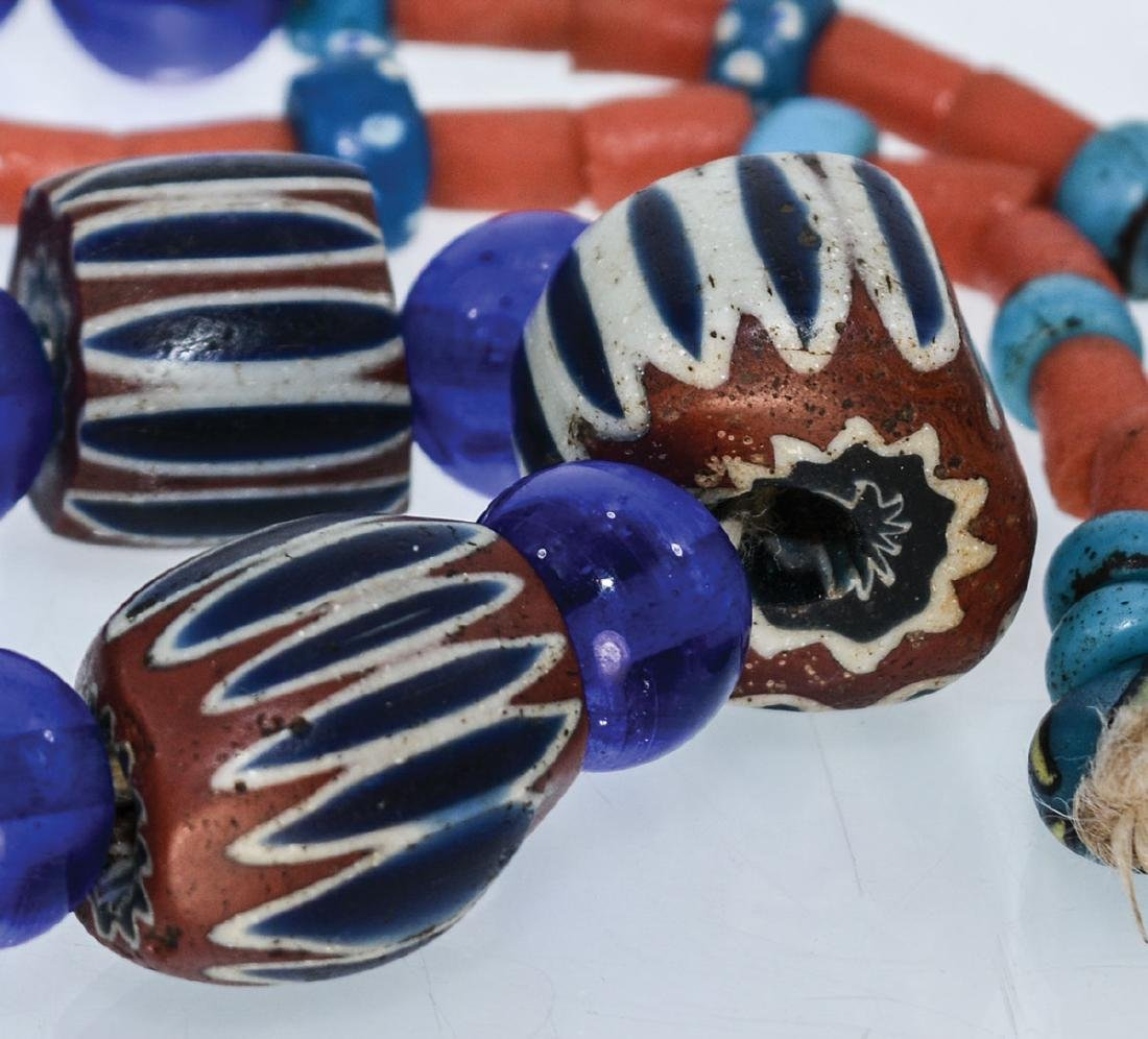 """28"""" Necklace with 15 large multi-layered Chevron Beads. - 2"""